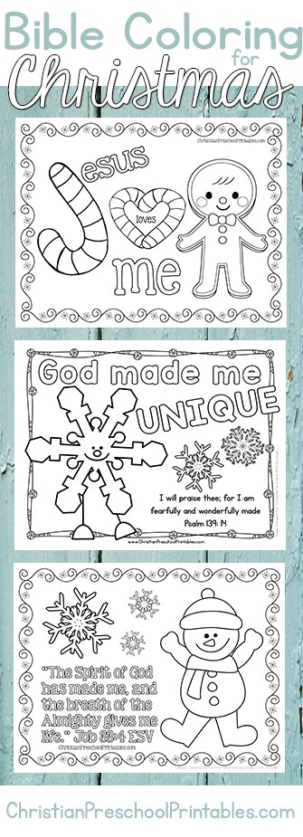 Christmas Bible Coloring Pages Christian Preschool