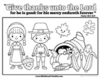 Give Thanks To The Lord Coloring Page