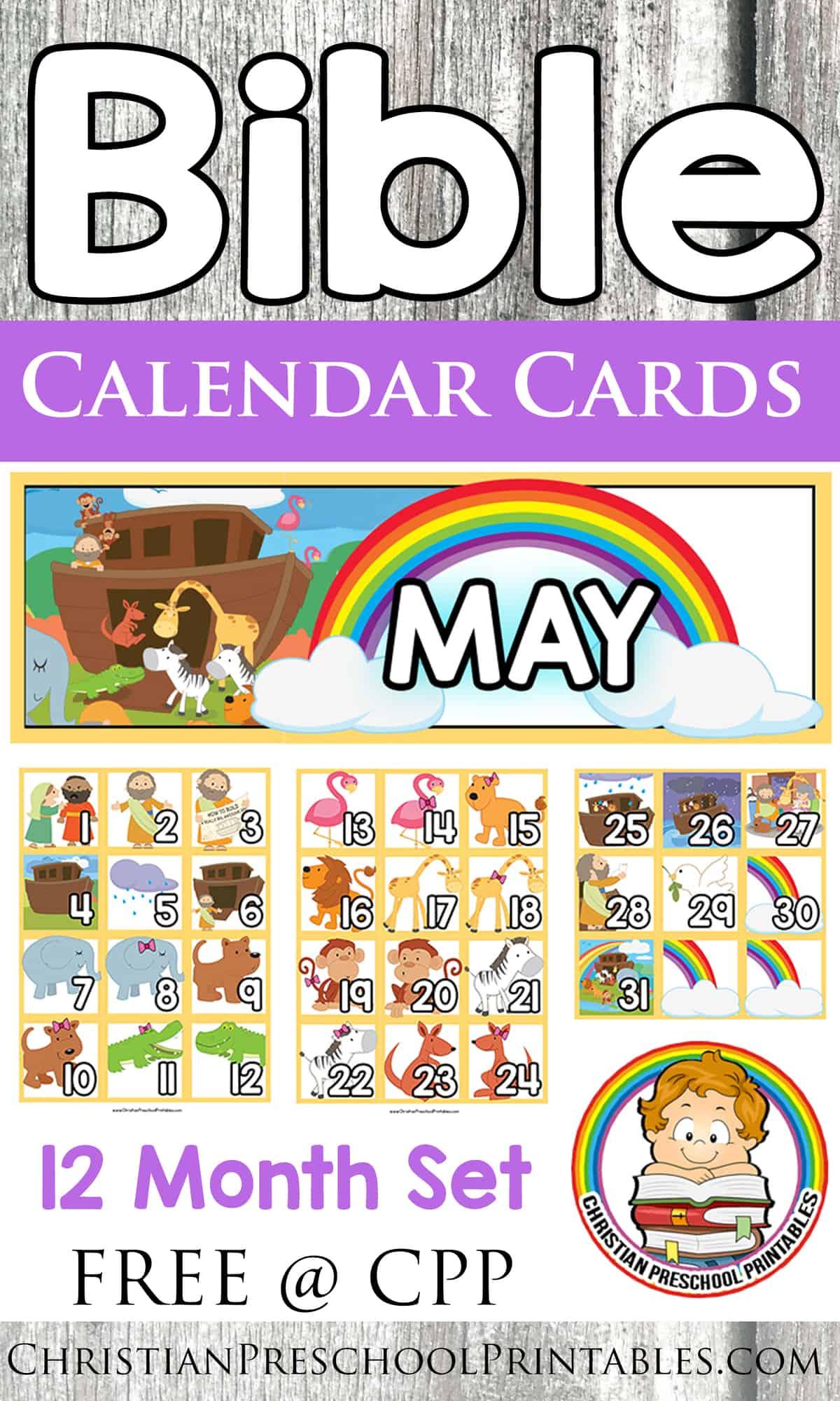 Calendar Preschool Printables : Bible calendar printables
