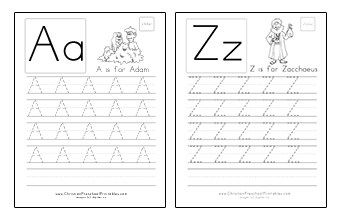 Bible ABC Worksheets Uppercase