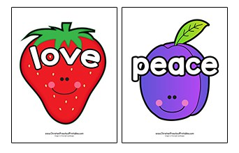 picture relating to Printable Fruit of the Spirit known as Fruit of the Spirit Printables - Christian Preschool Printables
