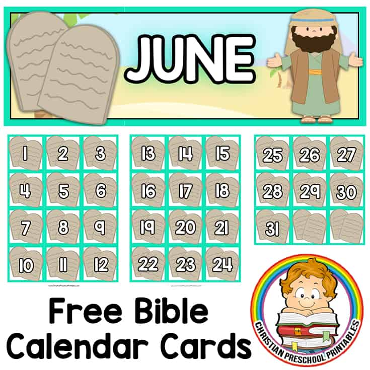 Ten Commandment Bible Printable - Christian Preschool Printables