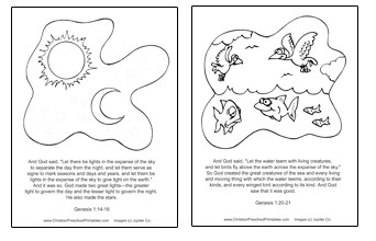coloring pages creation story - photo#31
