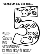 Days Of Creation Coloring Pages Christian Preschool Printables