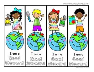 Earth Day Bible Printables Christian Preschool Printables border=