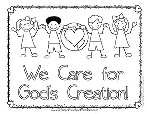 We Care For Gods Creation Coloring Page