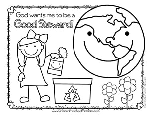 Earth Day Bible Coloring Pages Christian Preschool Printables