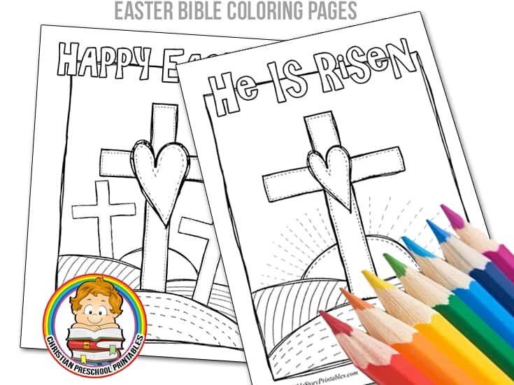 Easter Bible Coloring Pages - Christian Preschool Printables