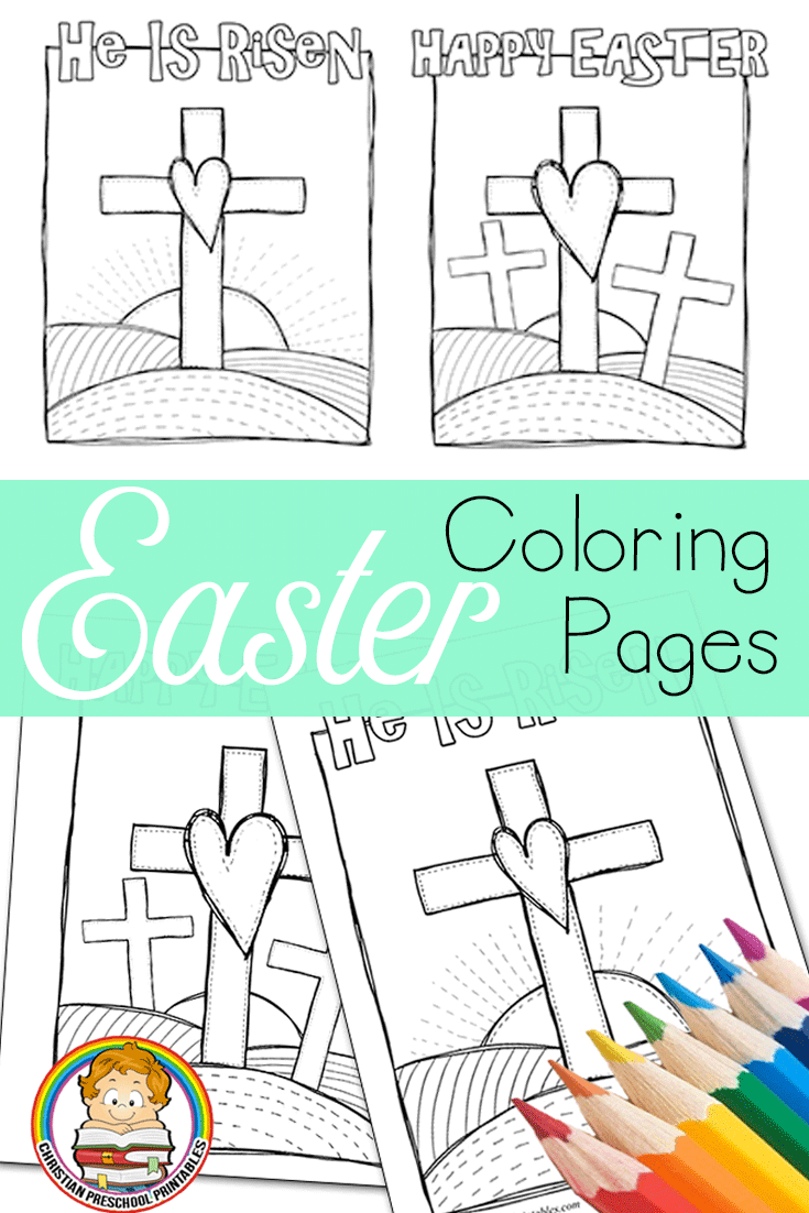 Easter Bible Coloring Pages Christian