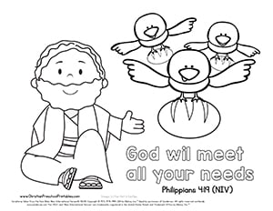 Elijah Bible Verse Printables Christian Preschool Printables