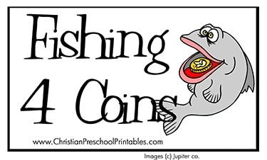 fishing for coins parable file folder game