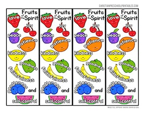 graphic regarding Fruits of the Spirit Printable titled Fruit of the Spirit Printables - Christian Preschool Printables