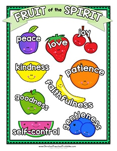 image regarding Fruits of the Spirit Printable named Fruit of the Spirit Printables - Christian Preschool Printables