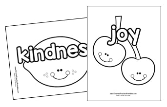 graphic regarding Printable Fruit of the Spirit identified as Fruit of the Spirit Printables - Christian Preschool Printables