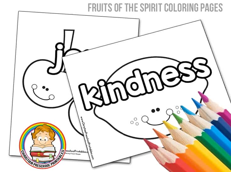 Fruits Of The Spirit Bible Coloring Pages - Christian Preschool Printables