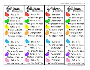 graphic regarding Jelly Bean Prayer Printable referred to as Bible Bookmarks - Christian Preschool Printables