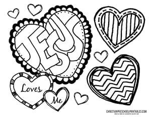 Free preschool coloring pages for christians ~ Valentine's Day Bible Printables - Christian Preschool ...