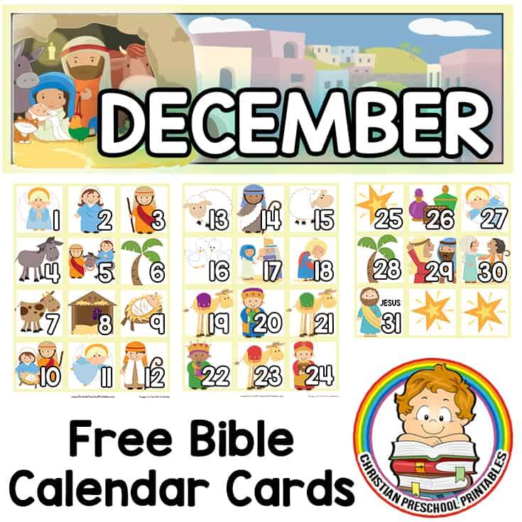 Christmas Story Calendar Cards A Free Set Of