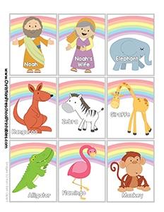 Noahs Ark Matching Cards