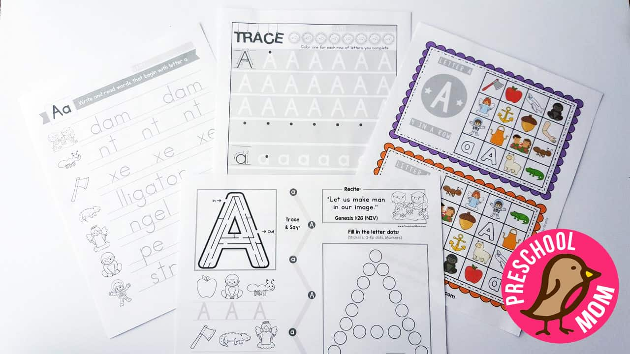 Bible ABC Printables - Christian Preschool Printables