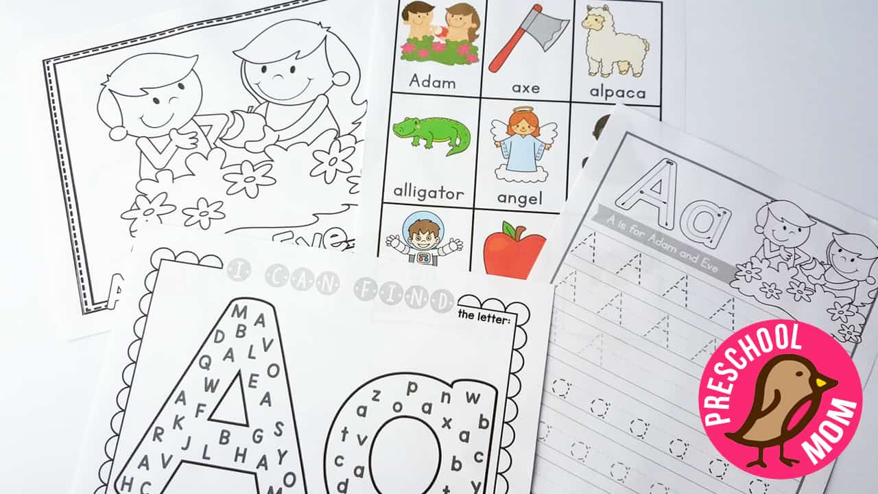 Bible Abc Printables  Christian Preschool Printables