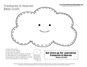 Noahs Ark Rainbow Cloud Craft