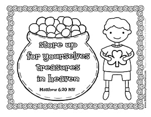 st patrick's day bible coloring pages  christian preschool printables
