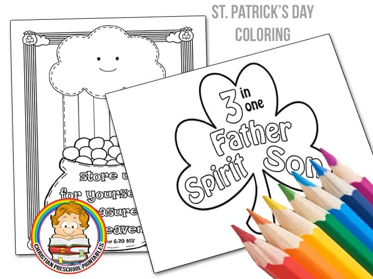 St. Patrick\'s Day Bible Coloring Pages - Christian Preschool Printables