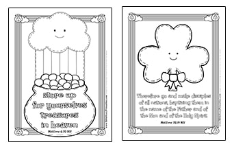 st patrick coloring pages religious St. Patrick's Day Bible Printables   Christian Preschool Printables st patrick coloring pages religious