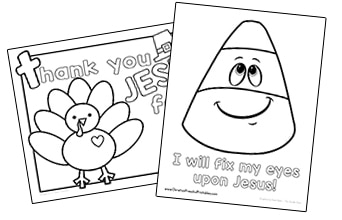 Bible Coloring Pages - Christian Preschool Printables