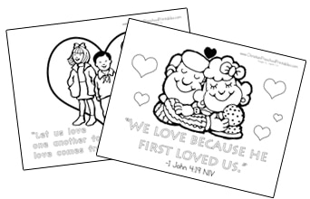 Valentines Day Jesus Loves Me Coloring Pages