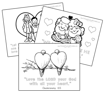 Valentines Day Bible Verse Coloring Pages