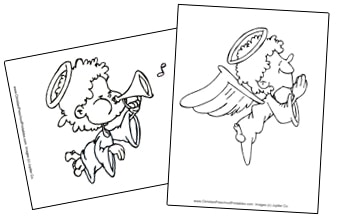 Angel Bible Coloring Pages For Kids