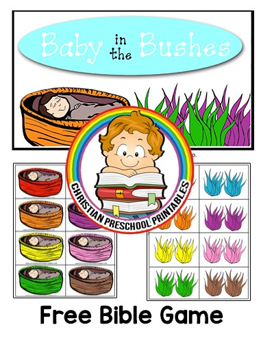 Baby Moses File Folder Game Christian Preschool Printables