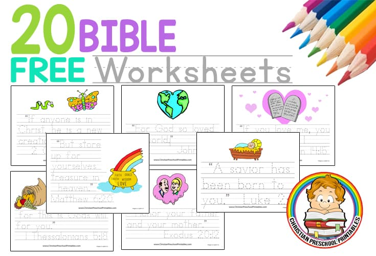 Bible Verse Copywork Pages on Preschool Tracing Worksheets Free Printable