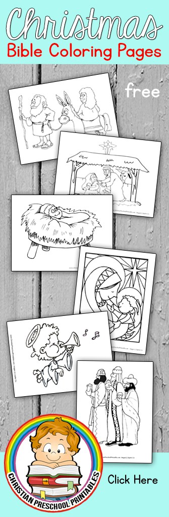 Nativity Scene Bible Coloring Pages
