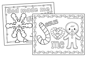 christmas bible theme coloring pages