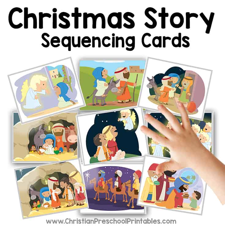 table side games are great for your christmas lesson print this story sequencing game and coordinating mat for children to recreate the story of christmas - Christmas Story For Toddlers