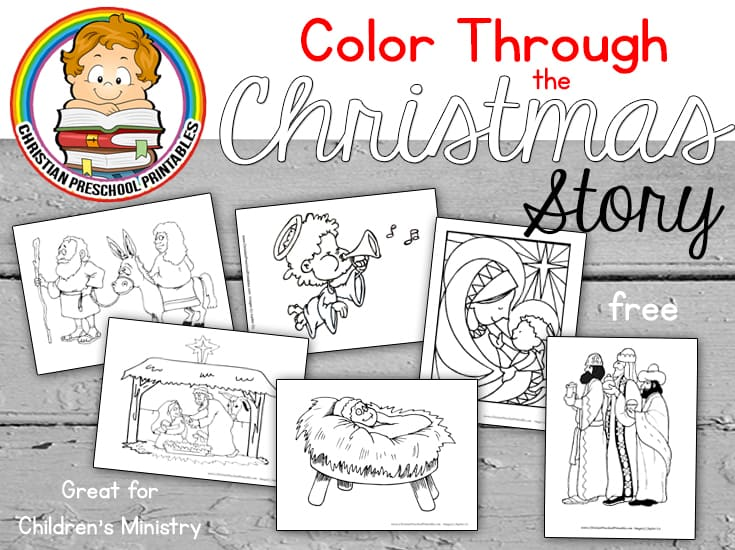 nativity scene bible coloring pages christmasstorycoloringheader
