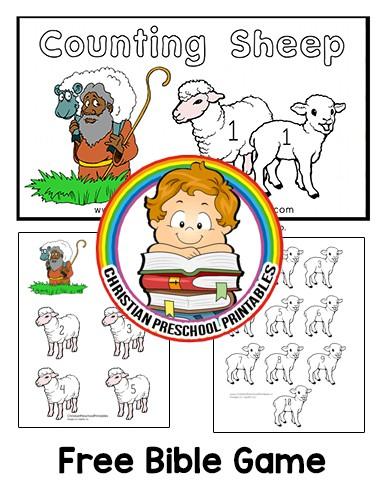 Counting David 39 s Sheep Folder Game