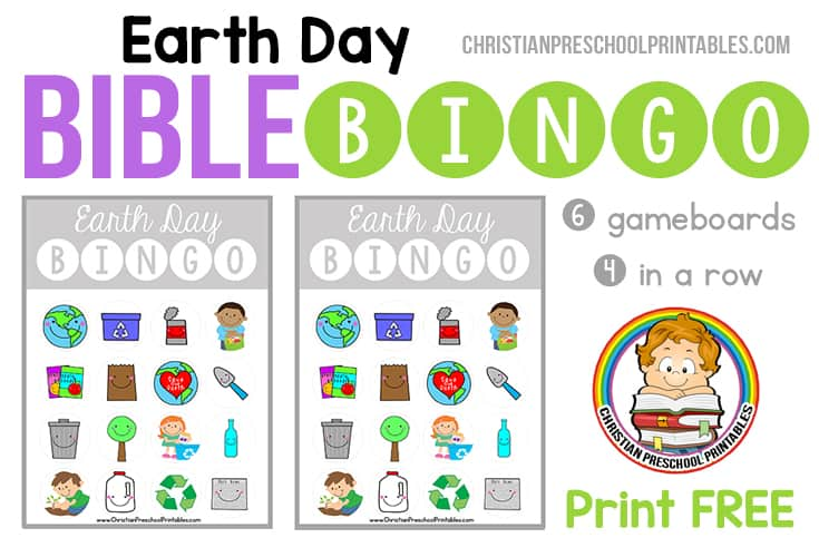 Earth Day Bible Bingo Christian Preschool Printables