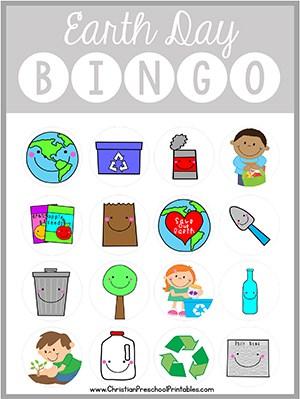 Earth Day Bible Bingo