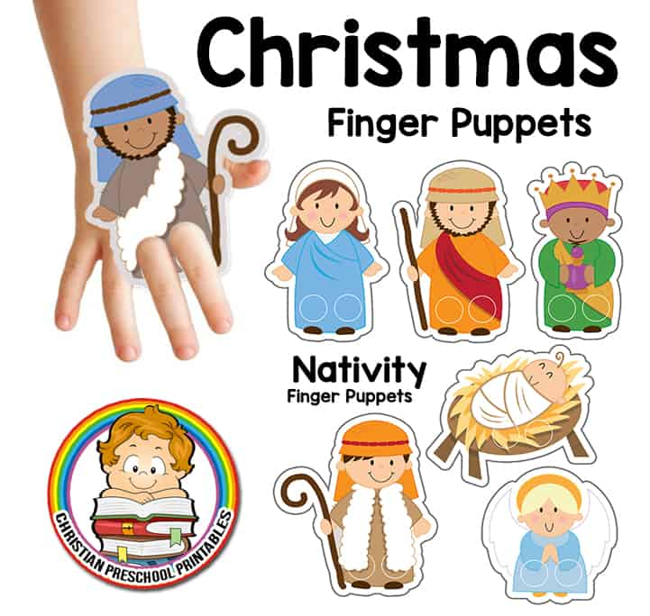christmas story finger puppets - Christmas Story For Toddlers