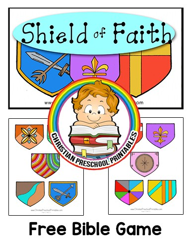 Shield of Faith Bible Game - Christian Preschool Printables