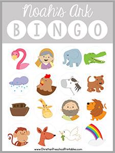 Noah S Ark Bible Bingo Game