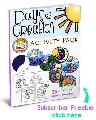 Creation Preschool Printables - Christian Preschool Printables