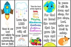 Bible Bookmarks - Christian Preschool Printables