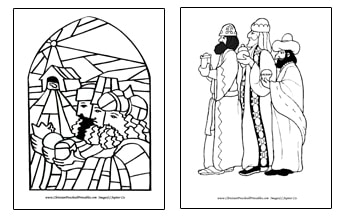 Wise Men Bible Coloring Pages