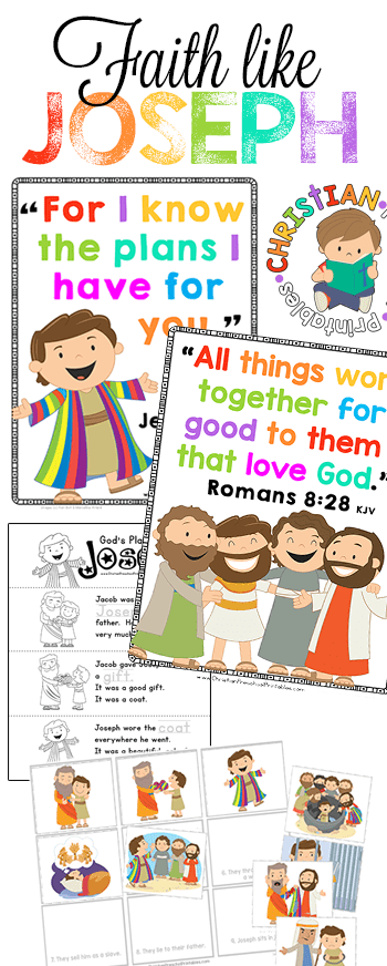 Joseph Bible Printables Christian