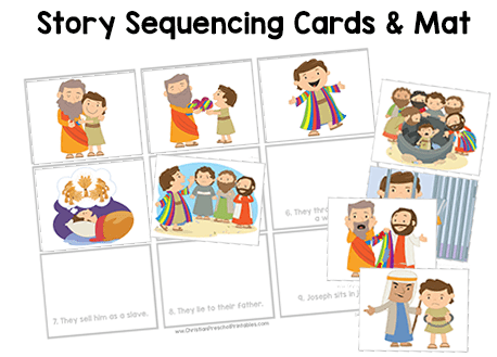 Joseph Story Sequencing Cards